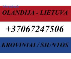 Olandija-Lietuva-Olandija Siuntos, Kroviniai, Baldai!