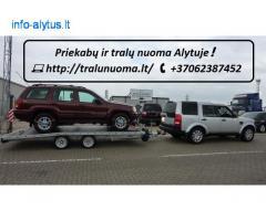 TRALIUKO/PLATFORMOS/PRIEKABOS NUOMA