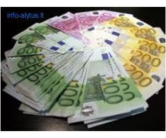Paskolos 2000 € iki 500 000 €