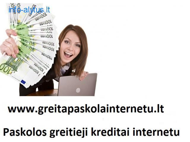 Vartojimo paskola. Kreditai internetu. Greitas kreditas.