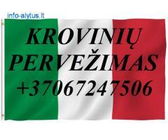 Tarptautiniai perkraustymai Lietuva-ITALIJA-Lietuva.