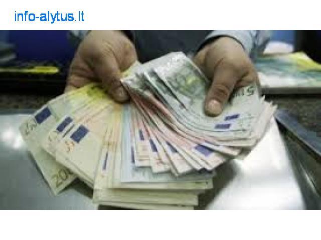 paskolų finansavimas