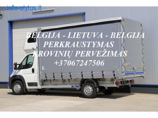 Teikiame tarptautinio perkraustymo paslauga LT - BE – LT .