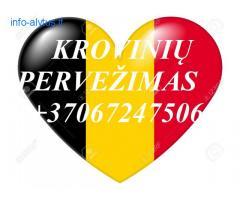 Tarptautiniai perkraustymai Lietuva-BELGIJA-Lietuva.