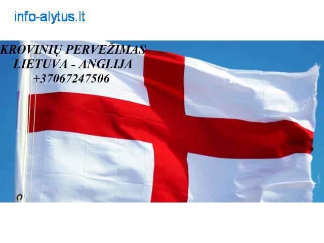 Perkraustymo paslaugos ANGLIJA-Lietuva-ANGLIJA  LT-UK-LT