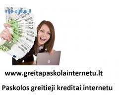 Vartojimo paskola internetu. Paskolos internetu be užstato.