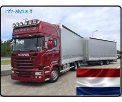Krovinių Pervežimas autotraukiniais 120 m3
