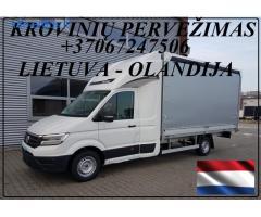 Krovinių Pervežimas tentiniu mikroautobusiuku Lietuva – Olandija – Lietuva !