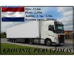 Kroviniai, gabenami šaldytuvinėmis puspriekabėmis. Olandija – Lietuva