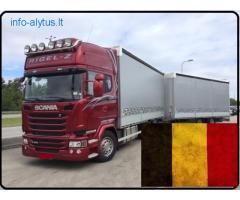 Krovinių Pervežimas autotraukiniais 120 m3 tūrio krovimo
