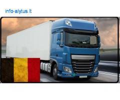 Kroviniai, gabenami šaldytuvinėmis puspriekabėmis. Belgija – Lietuva