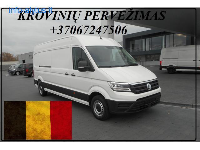Krovinių Pervežimas kietašoniu mikroautobusiuku Lietuva – Belgija – Lietuva  !