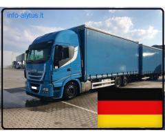 Krovinių Pervežimas Tentinėmis Puspriekabėmis ! iš / į Vokietija / Vokietijos / Vokietiją.