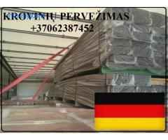 Krovinių Pervežimas Tentine Fūra 92m3 !  iš / į Vokietija / Vokietijos / Vokietiją