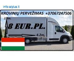 Įmonių ir gyventojų turto perkraustymas (perkraustymo paslaugos) Lietuva / Vengrija