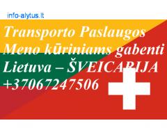Eksponatų ir parodų įrangos pervežimas Lietuva – Šveicarija