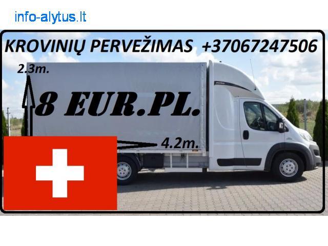 Įmonių ir gyventojų turto perkraustymas (perkraustymo paslaugos) Lietuva / Šveicarija