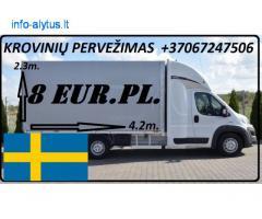 Transporto Paslaugos Meno kūriniams gabenti Lietuva – Švedija