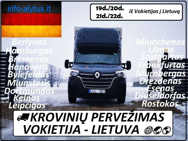 19d./20d./21d./22d. iš Vokietijos į Lietuvą