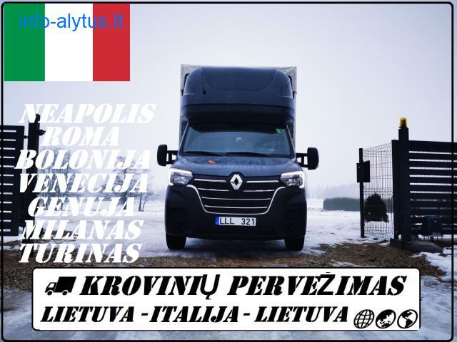 Krovinių pervežimas -- PERKRAUSTYMAS -- Italija -- Lietuva