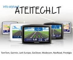 GPS navigacijos TomTom, Garmin, Modecom, Goclever, Becker, MIO. Nauja navigacinė įranga