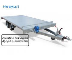 Nuomojam įvairias lengvųjų automobilių priekabas / traliukus +37062387452 www.tralunuoma.lt .