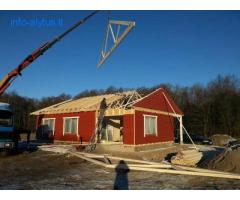 Stogo konstrukcijų (santvarų) gamyba ir montavimas