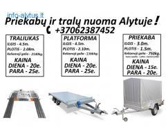 Traliuko ir Platformos Nuoma Alytuje +37062387452